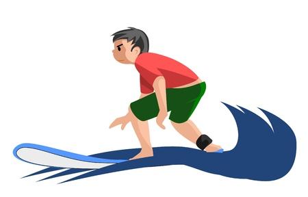 Child surfer Vector
