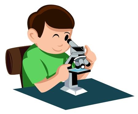 Мальчик с микроскопом картинка для детей