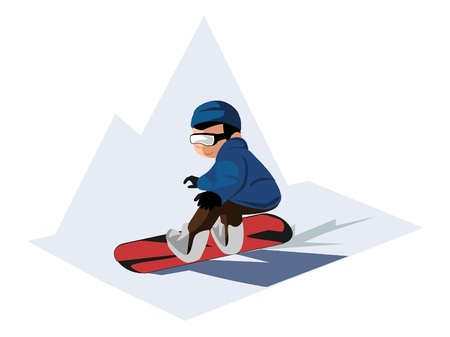 snowboarder: snowboarding boy