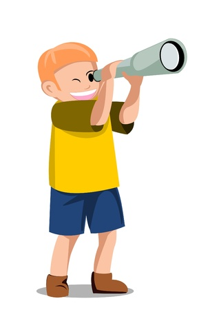 child telescope Vector