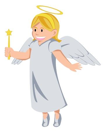 angel birthday: Angel Illustration
