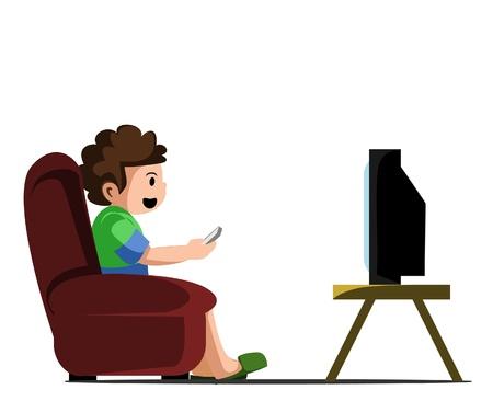 viewing: guardare la tv Vettoriali