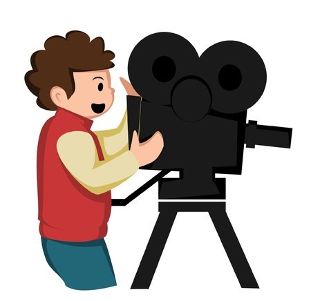 happy shoot the cinema Vector