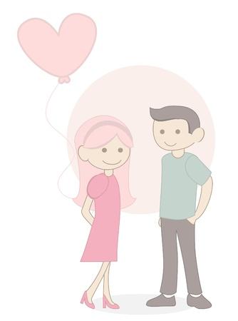 love baloon couple Vector