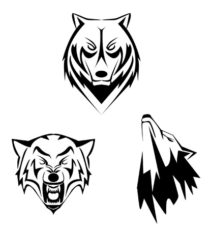 white wolf: wolf set Illustration