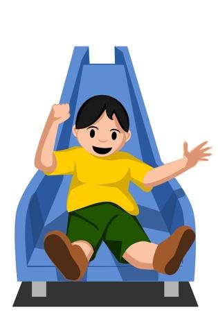 kid sliding Vector