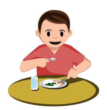 kid eat: ragazzo mangiare
