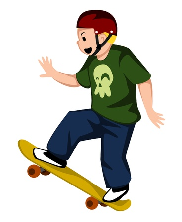 skateboard player Vector
