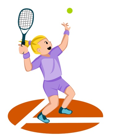 girl tennis Vector
