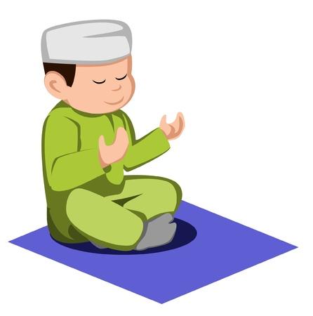adha: kid moslem Illustration