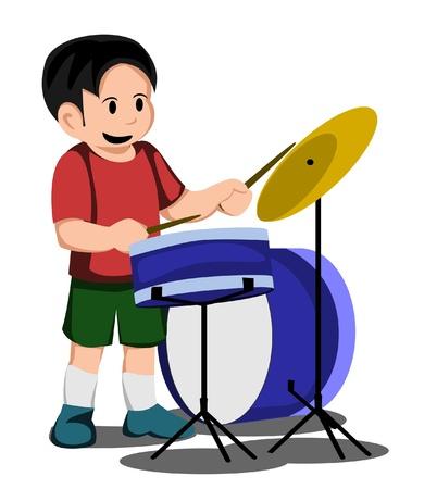 kid drum Vector
