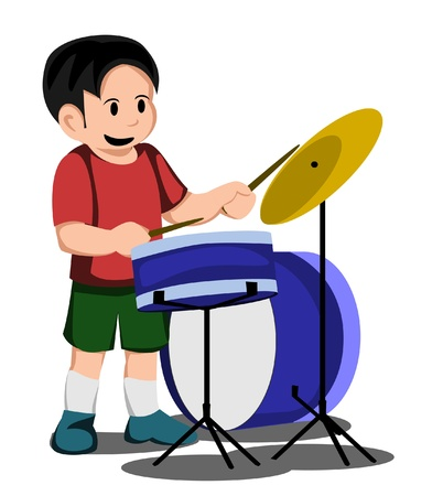 kid drum Illustration