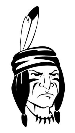 indio apache Ilustración de vector