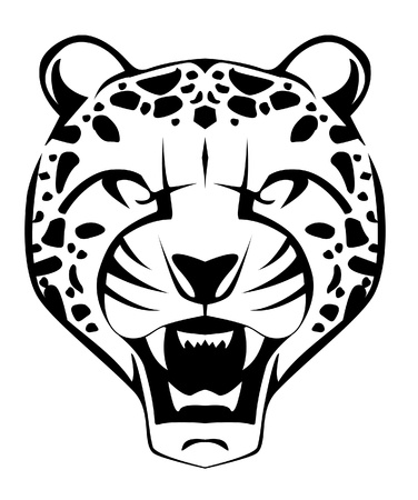 cheetah face Vector