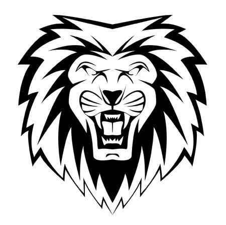 visage de lion Illustration