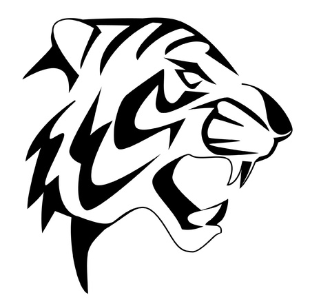 tiger face Stock Vector - 14968222