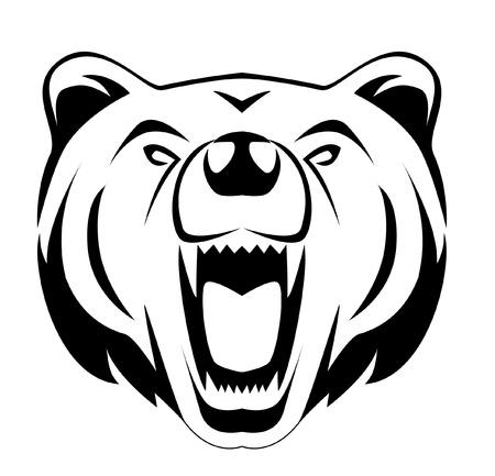 bear silhouette: sopportare Vettoriali