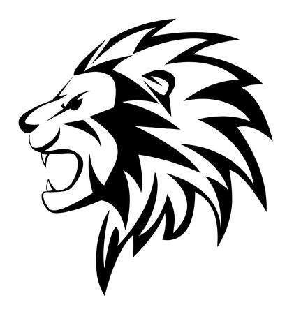 the lions: rugido del le�n Vectores