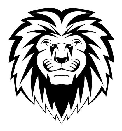 lion dessin: visage de lion Illustration