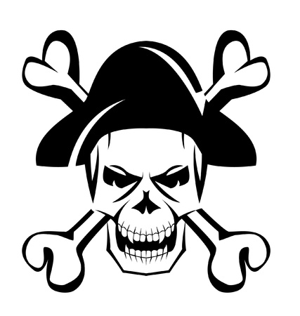 1,449 Black Pirate Hat Stock Vector Illustration And Royalty Free ...