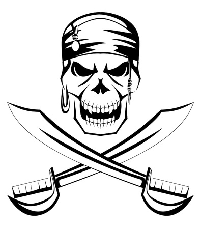 roger: pirate skull sword