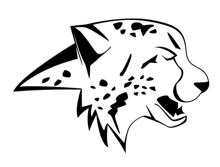 chita: guepardo Vectores