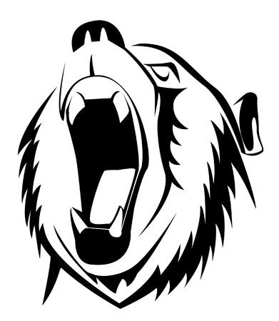 oso blanco: tener rugido Vectores