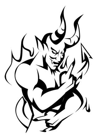 diablo y angel: diablo