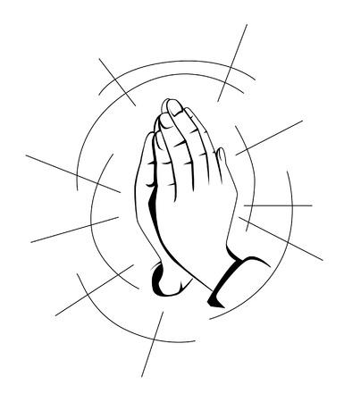 gebed de hand Vector Illustratie