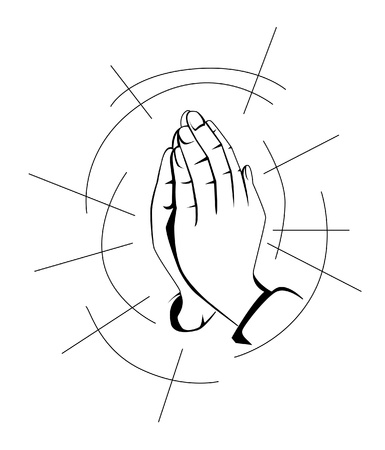 prayer hand Vector