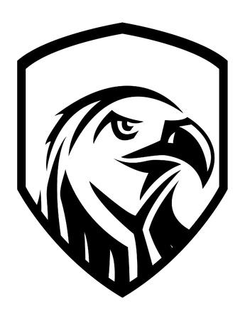 eagle feather: eagle head