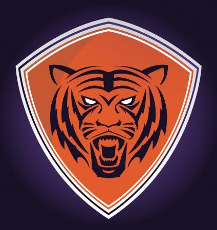 star mascot: tiger emblem