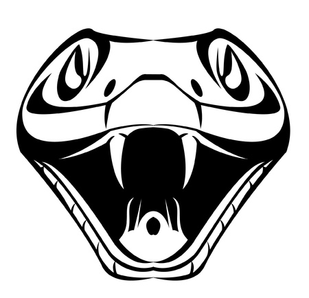 serpents: snake head Illustration