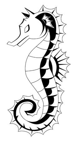 caballo de mar: caballito de mar Vectores