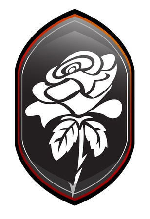 rose romantic sign Vector