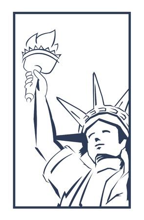 statue of liberty: liberty Illustration