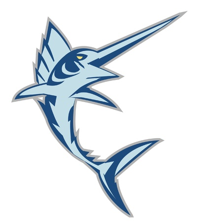 dorado: marlin fish Illustration