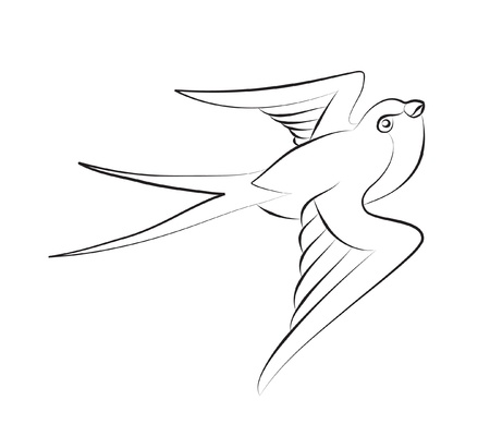 tatouage oiseau: avaler Illustration
