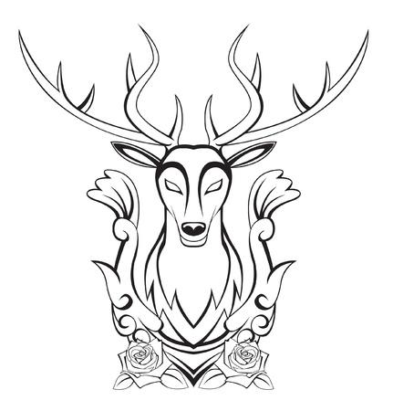 deers: venado s�mbolo Vectores
