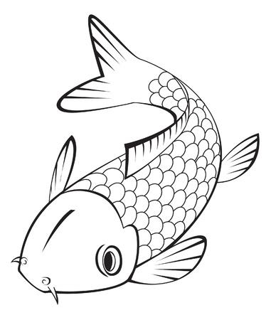 ornamental fish: koi pesce Vettoriali