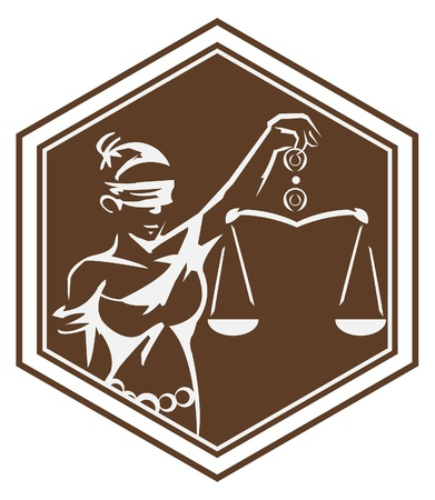 scale up: justice  symbol lady