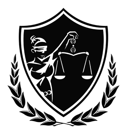 justice lady sign Vector