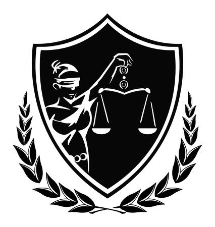 rechtvaardigheid dame teken Vector Illustratie