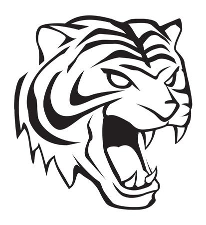 silueta tigre: tigre cabeza