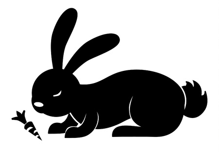 rabbit carrot Vector