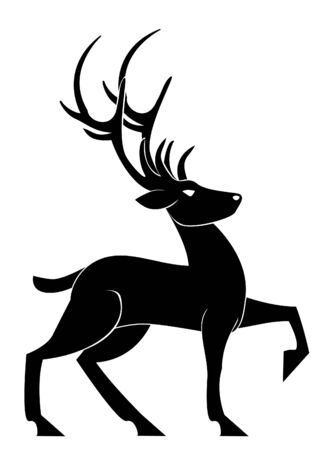 deer skull: deer pose Illustration