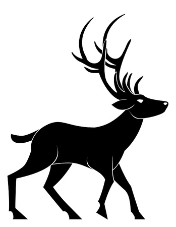 deer walk Vector