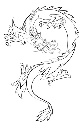 dragon tattoo Stock Vector - 15713949