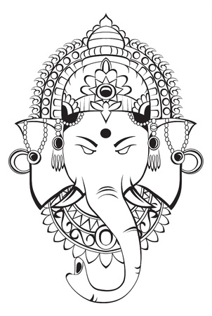 black gods: ganesha Illustration