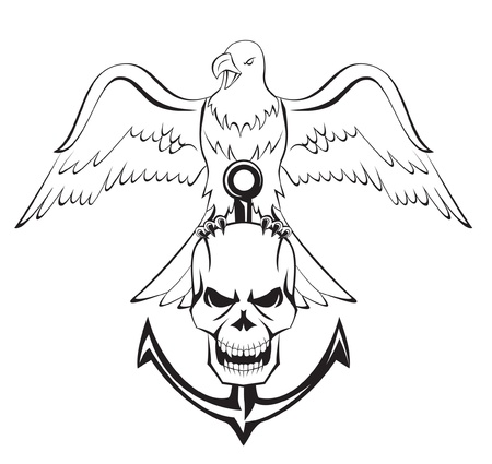 death metal: eagle skull anchor